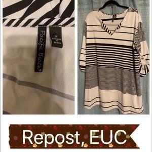 EUC White and Black Dress or Tunic